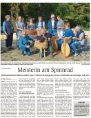 Spinnvorführung im Idsteiner Bürgergarten