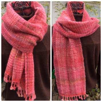 Schal rosa 2
