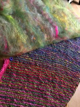 Fasern passend für das nächste Segment gemischt